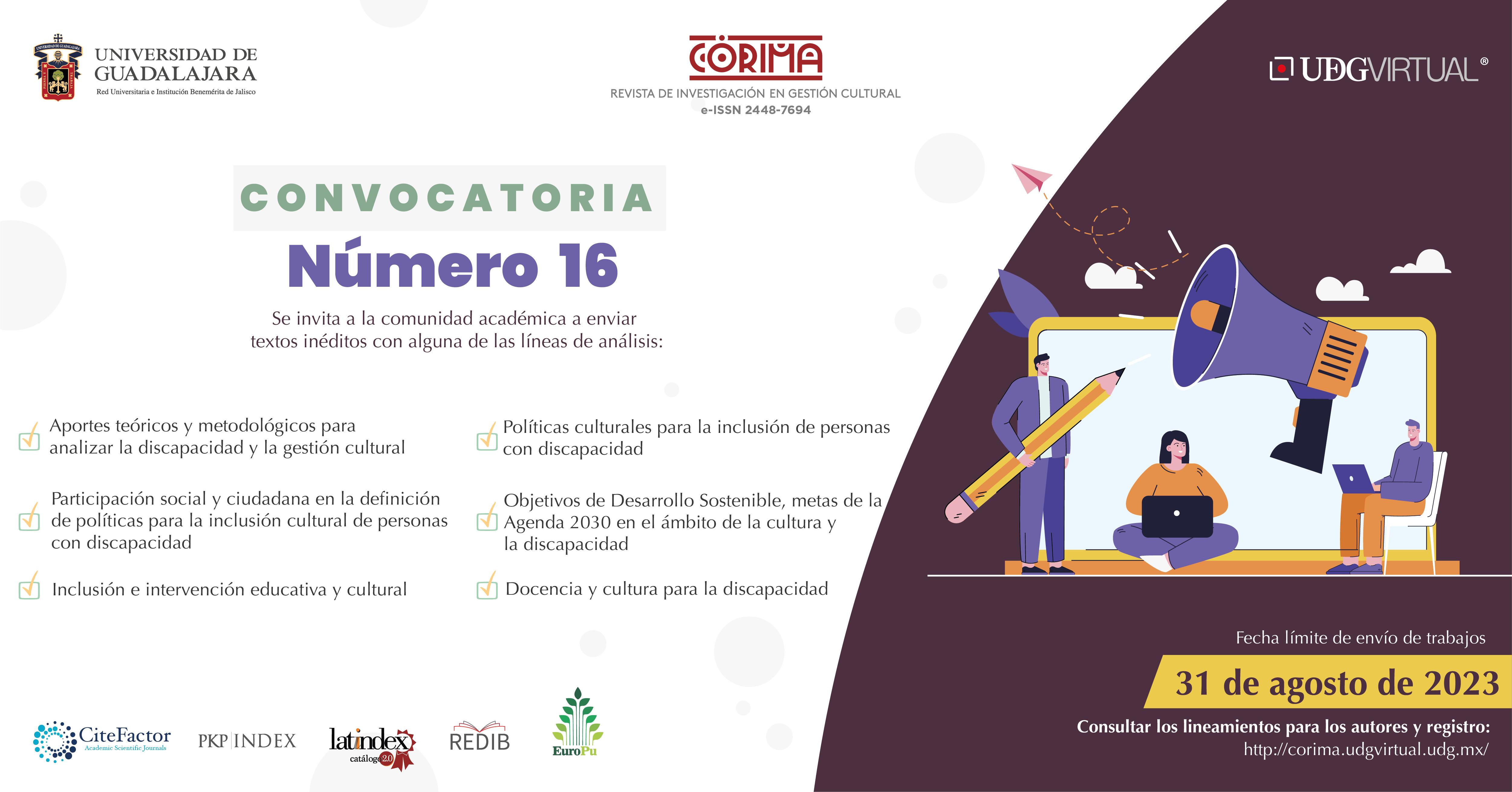 Córima, Revista de Investigación en Gestión Cultural (e-ISSN 2448-7694)